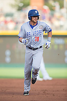 Travis Taijeron (18) of the Las Vegas 51s rounds the bases after hitting a 2-run home run in the top of the second inning at the 29th Annual Triple-A All-Star Game at BB&T BallPark on July 13, 2016 in Charlotte, North Carolina.  The International League defeated the Pacific Coast League 4-2.   (Brian Westerholt/Four Seam Images)