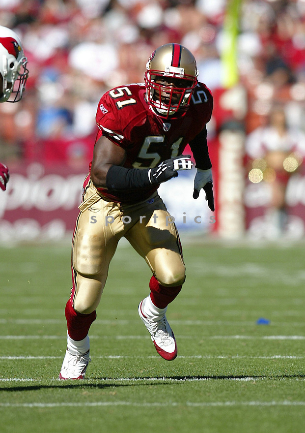 Saleem Rasheed during the 49ers v. Cardinals game on October 10, 2004...49ers win 31-28..Rob Holt / SportPics
