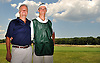 Caddie George Ouellette, Jr., and father George Ouellette, Sr. pose for a portrait at Garden City Golf Club on Thursday, June 30, 2016.