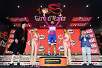 Fernando Gaviria (COL) Quick-Step Floors retains the Maglia Ciclamino at the end of Stage 18 of the 100th edition of the Giro d'Italia 2017, running 137km from Moena to Ortisei/St. Ulrich, Italy. 25th May 2017.<br /> Picture: LaPresse/Massimo Paolone | Cyclefile<br /> <br /> <br /> All photos usage must carry mandatory copyright credit (&copy; Cyclefile | LaPresse/Massimo Paolone)
