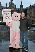Photocall for Factory Farming Investment Risks campaign film opposing plans for a massive pig farm in Northern Ireland, in Lough Foyle where Game of Thrones is filmed, at House of Commons&gt; London, England on December 03, 2018.<br /> CAP/JOR<br /> &copy;JOR/Capital Pictures