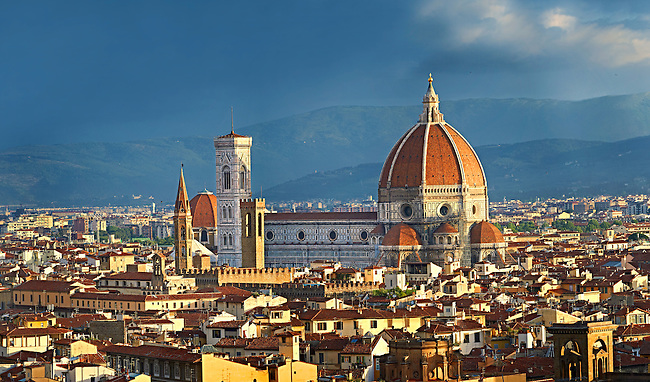 Panoramic view of Florence The Duomo, Italy