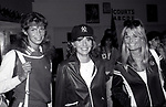 Ann Turkel, Penny Marshall and Valerine Perrine  attend a Celebrity Charity Tennis Tournament at Long Island City on May 17, 1981 in New York City.