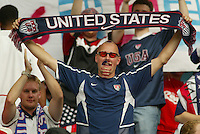 "USA fan, self-proclaimed ""Soccerhead."" The USA tied South Korea, 1-1, during the FIFA World Cup 2002 in Daegu, Korea."