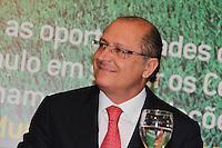 """SAO PAULO, SP, 09 DE FEVEREIRO 2012. O Governador Geraldo Alckmin, na abertura do seminario """"Cidade Base - Oportunidades e Desafios em sediar Centros de Treinamento de Seleções para a Copa do Mundo da FIFA Brasil 2014"""", no Palacio dos Bandeirantes, regiao sul de SP, na manha desta quinta-feira, 09. (FOTO: MILENE CARDOSO - NEWS FREE)"""