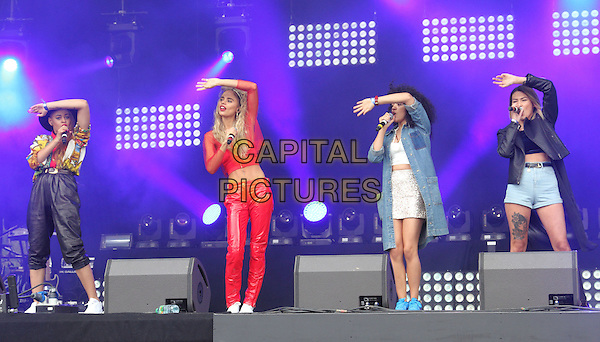 BIRMINGHAM, UNITED KINGDOM - AUGUST 30: Neon Jungle performs onstage during day 1 of Fusion Festival 2014 on August 30, 2014 in Birmingham, England.<br /> CAP/ROS<br /> &copy;Steve Ross/Capital Pictures