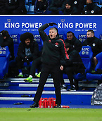3rd February 2019, King Power Stadium, Leicester, England; EPL Premier League Football, Leicester City versus Manchester United; Manchester United manager Ole Gunnar Solskjaer shouts his instructions from the sidelines