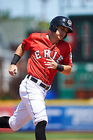 Erie Seawolves right fielder Jason Krizan (18) runs the bases on a Corey Jones (not pictured) home run during a game against the Altoona Curve on July 10, 2016 at Jerry Uht Park in Erie, Pennsylvania.  Altoona defeated Erie 7-3.  (Mike Janes/Four Seam Images)