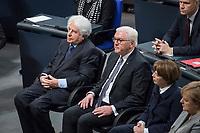 Der Bundestag erinnert am Donnerstag  den 31. Januar 2019 in einer Gedenkstunde an die Opfer des Nationalsozialismus. Der israelische Historiker Saul Friedlaender hielt die Hauptrede. Der 1932 geborene Friedlaender ueberlebte den Holocaust im Versteck. Seine Eltern wurden in Auschwitz ermordet. Friedlaender forschte vor allem zur Geschichte des Nationalsozialismus und zum Schicksal der europaeischen Juden.<br /> Der Bundestag gedenkt traditionell zum Holocaust-Gedenktag der Millionen Opfer des Nazi-Regimes. Am 27. Januar 1945 befreiten Soldaten der Roten Armee das Vernichtungslager Auschwitz.<br /> 31.1.2019, Berlin<br /> Copyright: Christian-Ditsch.de<br /> [Inhaltsveraendernde Manipulation des Fotos nur nach ausdruecklicher Genehmigung des Fotografen. Vereinbarungen ueber Abtretung von Persoenlichkeitsrechten/Model Release der abgebildeten Person/Personen liegen nicht vor. NO MODEL RELEASE! Nur fuer Redaktionelle Zwecke. Don't publish without copyright Christian-Ditsch.de, Veroeffentlichung nur mit Fotografennennung, sowie gegen Honorar, MwSt. und Beleg. Konto: I N G - D i B a, IBAN DE58500105175400192269, BIC INGDDEFFXXX, Kontakt: post@christian-ditsch.de<br /> Bei der Bearbeitung der Dateiinformationen darf die Urheberkennzeichnung in den EXIF- und  IPTC-Daten nicht entfernt werden, diese sind in digitalen Medien nach &sect;95c UrhG rechtlich geschuetzt. Der Urhebervermerk wird gemaess &sect;13 UrhG verlangt.]
