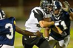 Lawndale, CA 10/18/13 - Ryan Augello (Peninsula #29) in action during the Peninsula vs Leuzinger Varsity football game at Leuzinger High School.