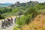 The peloton 10' behind during Stage 17 of the 2019 Tour de France running 200km from Pont du Gard to Gap, France. 24th July 2019.<br /> Picture: ASO/Alex Broadway | Cyclefile<br /> All photos usage must carry mandatory copyright credit (© Cyclefile | ASO/Alex Broadway)