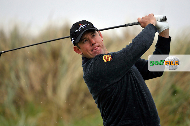 Lee Westwood tees off on the 13th hole during Round1 of the 3 Irish Open on 14th May 2009 (Photo by Eoin Clarke/GOLFFILE)