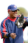 9 March 2007: Washington Nationals infielder Ronnie Belliard warms up prior to facing the Baltimore Orioles at Fort Lauderdale Stadium in Fort Lauderdale, Florida. <br /> <br /> Mandatory Photo Credit: Ed Wolfstein Photo