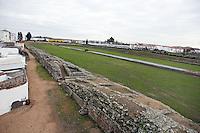 Roman Circus, built at the beginning of the 1st Century AD; Wide steps for 30?000 spectators; Width 115 meters; Length 440 meters, Merida (Augusta Emerita, Capital of Hispania Ulterior), Extremadura, Spain