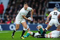 Ben Youngs of England looks to pass the ball. RBS Six Nations match between England and Ireland on February 27, 2016 at Twickenham Stadium in London, England. Photo by: Patrick Khachfe / Onside Images