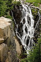 Myrtle Falls drops immediately below the Paradise Valley trail in Mt Rainier NP