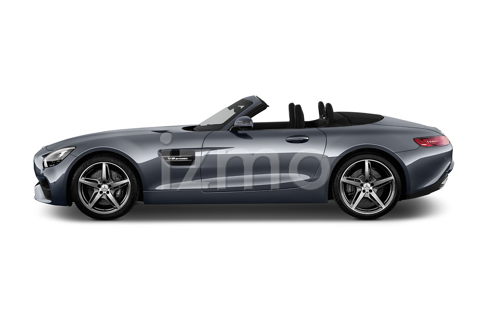 Car driver side profile view of a 2019 Mercedes Benz AMG GT base 2 Door Roadster