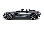 Car driver side profile view of a 2018 Mercedes Benz AMG GT base 2 Door Roadster