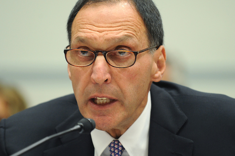 Richard Fuld Jr., chairman and CEO of Lehman Brothers Holdings, testifies before a House Oversight and Government Reform Committee hearing about the bankruptcy of his company, October 6, 2008.