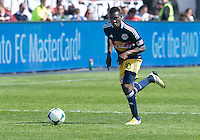 April 27, 2013: New York Red Bulls midfielder Lloyd Sam #10 in action during a game between Toronto FC and the New York Red Bulls at BMO Field  in Toronto, Ontario Canada..The New York Red Bulls won 2-1.
