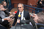 Ross County chairman Roy MacGregor leaving today's SPL AGM at Hampden