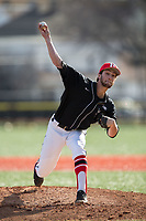 Rutgers Scarlet Knights starting pitcher Christian Campbell (8) in action against the Iona Gaels at City Park on March 8, 2017 in New Rochelle, New York.  The Scarlet Knights defeated the Gaels 12-3.  (Brian Westerholt/Four Seam Images)