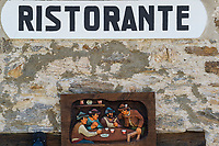 Restaurant, Monti di Laura, Ticino, Switzerland, september 2015.