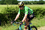 Green Jersey leader Wout Van Aert (BEL) Team Jumbo-Visma in action during Stage 5 of the Criterium du Dauphine 2019, running 201km from Boen-sur-Lignon to Voiron, France. 13th June 2019.<br /> Picture: ASO/Alex Broadway | Cyclefile<br /> All photos usage must carry mandatory copyright credit (© Cyclefile | ASO/Alex Broadway)