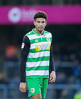 Omar Sowunmi of Yeovil Town during the Sky Bet League 2 match between Wycombe Wanderers and Yeovil Town at Adams Park, High Wycombe, England on 14 January 2017. Photo by Andy Rowland / PRiME Media Images.