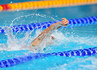 Wales' Sian Morgan competes in the women's 4x200m freestyle final <br /> <br /> Photographer Chris Vaughan/CameraSport<br /> <br /> 20th Commonwealth Games - Day 3 - Saturday 26th July 2014 - Swimming - Tollcross International Swimming Centre - Glasgow - UK<br /> <br /> © CameraSport - 43 Linden Ave. Countesthorpe. Leicester. England. LE8 5PG - Tel: +44 (0) 116 277 4147 - admin@camerasport.com - www.camerasport.com