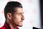 Sevilla Sergio Escudero during press conference the day before King's Cup Finals match between Sevilla FC and FC Barcelona at Wanda Metropolitano in Madrid, Spain. April 20, 2018. (ALTERPHOTOS/Borja B.Hojas)