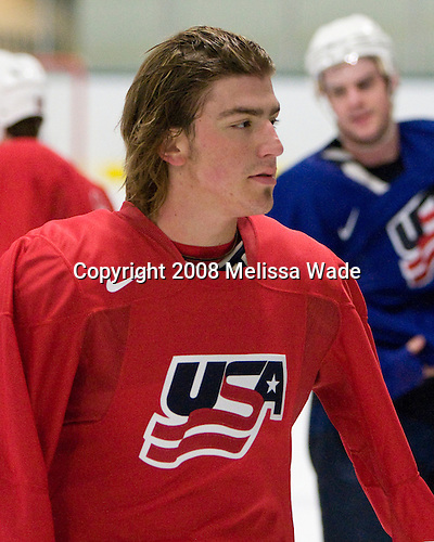 "Peter Mueller (USA 24 - Phoenix Coyotes/Everett Silvertips)  - Team USA practiced and then held a skate with the fans to benefit ""Opportunity Skate"" at the Family Ice Center in Falmouth, Maine on Saturday, April 26, 2008."
