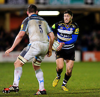 Matt Banahan of Bath Rugby in possession. Aviva Premiership match, between Bath Rugby and Newcastle Falcons on March 18, 2016 at the Recreation Ground in Bath, England. Photo by: Patrick Khachfe / Onside Images