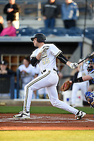 Vanderbilt Commodores infielder Tyler Green (55) at bat during a game against the Indiana State Sycamores on February 20, 2015 at Charlotte Sports Park in Port Charlotte, Florida.  Vanderbilt defeated Indiana State 3-2.  (Mike Janes/Four Seam Images)