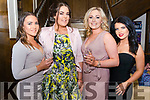 l-r Anne Prendiville from Tralee, Mickaela Foley from Killarney, Kelly Murnane from Tralee and Emily Switzer from Tralee pictured at Miss Kerry 2017 contest in The Brehon Hotel, Killarney last Friday night.
