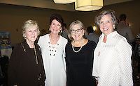 NWA Democrat-Gazette/CARIN SCHOPPMEYER Betty Shewmaker (from left), Cynthia Coughlin, Mary Alice Scarborough and Lola Behrends enjoy Sip and Savor.