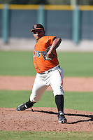 San Francisco Giants pitcher Reyes Moronta (39) during an Instructional League game against the Oakland Athletics on October 13, 2014 at Giants Baseball Complex in Scottsdale, Arizona.  (Mike Janes/Four Seam Images)