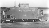 Short caboose #0501.<br /> D&amp;RGW  Durango, CO  ca 1948