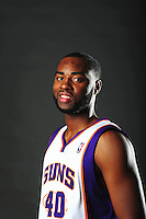 Dec. 16, 2011; Phoenix, AZ, USA; Phoenix Suns forward Marcus Landry poses for a portrait during media day at the US Airways Center. Mandatory Credit: Mark J. Rebilas-
