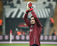 16th December 2019;  Goalkeeper Ugurcan Cakir of Trabzonspor during the Turkish Super League football mach between Besiktas and Trabzonspor at Vodafone Park in Istanbul . Premier League Chelsea have agreed to sign the goalkeeper on a permanent basis