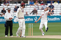 Aaron Beard in bowling action for Essex during Essex CCC vs Somerset CCC, Specsavers County Championship Division 1 Cricket at The Cloudfm County Ground on 25th June 2019