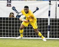 KANSAS CITY, KS - JUNE 26: Sean Johnson #12 during a game between United States and Panama at Children's Mercy Park on June 26, 2019 in Kansas City, Kansas.