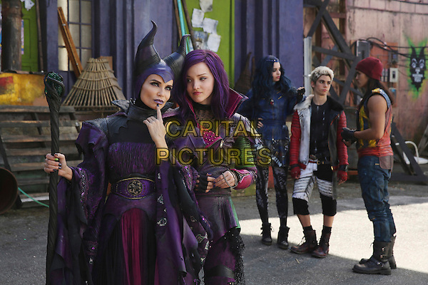 Descendants (2015) (TV Movie) <br /> Kristin Chenoweth, Dove Cameron, Sofia Carson, Cameron Boyce and Booboo Stewart <br /> *Filmstill - Editorial Use Only*<br /> CAP/FB<br /> Image supplied by Capital Pictures