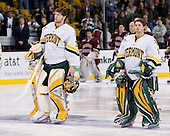 Joe Fallon (Vermont - 29), Jeff Hill (Vermont - 1) - The Boston College Eagles defeated the University of Vermont Catamounts 4-0 in the Hockey East championship game on Saturday, March 22, 2008, at TD BankNorth Garden in Boston, Massachusetts.