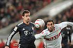 19.12.2010, Mercedes Benz Arena , Stuttgart, GER, 1.FBL, VfB Stuttgart vs FC Bayern Muenchen, im Bild Miroslav Klose (Bayern #18), Cristian Molinaro (Stuttgart #3), Foto © nph / Roth
