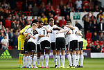 Team huddle during the Championship match at the City Ground Stadium, Nottingham. Picture date 30th September 2017. Picture credit should read: Simon Bellis/Sportimage