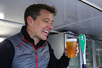 Ben Shepard pours his own pint during the Graham Wylie Foundation- Have A Heart- golf day with Lee Westwood and Ronan Keating at Close House Golf Club, Heddon on the wall, England on 10 September 2018. Photo by Thomas Gadd.
