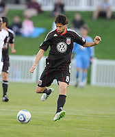 DC United midfielder Branko Boskovic (8) )   The New England Revolution defeated DC United 3-2 in US Open Cup match , at the Maryland SoccerPlex, Tuesday  April 26, 2011.