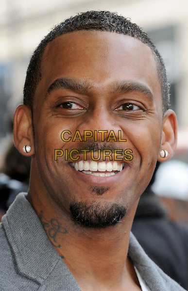 Richard Blackwood.UK Premiere of 'Outside Bet' at Cineworld, Haymarket, London, England..April 24th 2012.headshot portrait grey gray goatee facial hair tattoo smiling .CAP/BK/PP.©Bob Kent/PP/Capital Pictures.