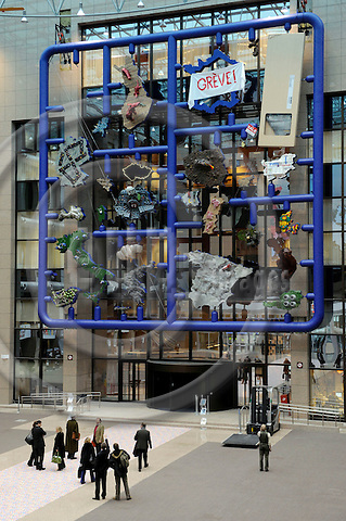 Brussels-Belgium - 12 January 2009 -- Entropa - Stereotypes are Barriers to be Demolished ! A modern art installation in the atrium of the Justus Lipsius building of the EU-Council in Brussels, unveiled for/under/by the Czech EU-Presidency; created by David Cerny, who misleadingly claimed to have involved artists of the 27 EU-Member States -- Photo: Horst Wagner/eup-images